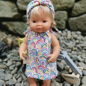 Handmade Rainbow Dreams 2 Pce Set for 38-40cm Doll