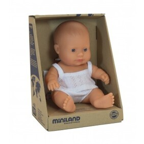 Miniland Doll - Anatomically Correct Baby, Caucasian Girl 38 cm