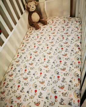 Handmade Fitted Flannelette Cot Sheets