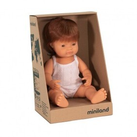 Miniland Doll - Anatomically Correct Baby, Caucasian Boy, Red Head 38 cm