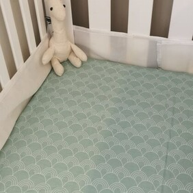 Baby Cotton Fitted Cot Sheet - Handmade
